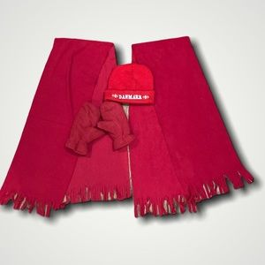 Denmark Red Scarves and Mits Bundle
